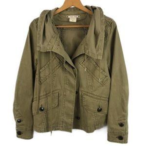Anthropologie Hei Hei Army Green Utility Jacket
